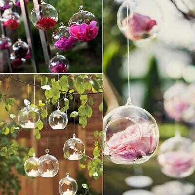 £10.72 • Buy 6-36X Christmas Bauble Ball Fillable Clear Glass Hanging Tea Light Candle Holder