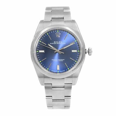 $ CDN8267.70 • Buy Rolex Oyster Perpetual 39 Steel Blue Dial Automatic Mens Watch 114300-0003