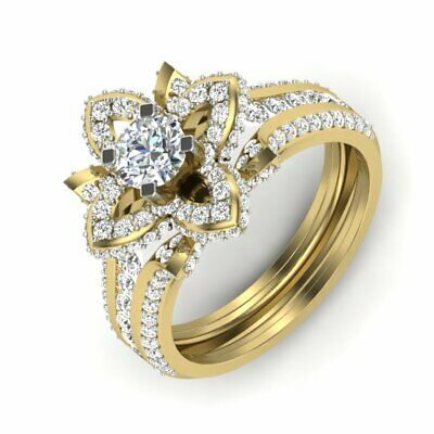 AU988.90 • Buy Round Solitaire Diamond Statement Ring 14kt Solid Yellow Gold 1.72 TCW D/VVS1
