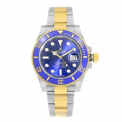 $ CDN16238.85 • Buy Rolex Submariner Steel Yellow Gold Ceramic Blue Dial Automatic Mens Watch 116613