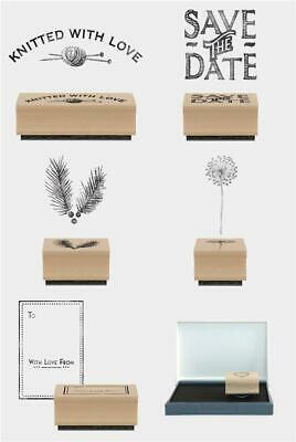 Rubber Wooden Stamp East Of India Knitting Wedding Fir Dandelion With Love Ink • 4.99£