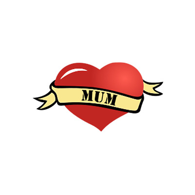 £2.69 • Buy MOM / DAD Heart Temporary Tattoo Waterproof Parent Love Family Mothers Day Week