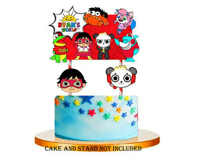 $6.99 • Buy RYAN TOY WORLD REVIEW CUPCAKE CAKE TOPPER TOPPERS Party DECORATION BALLOONS
