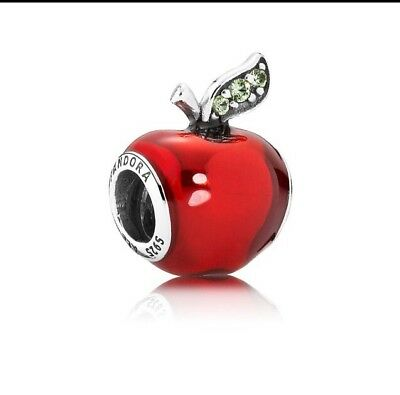 Pandora Disney Snow White Apple Charm S925 ALE Sterling Silver • 2.20£