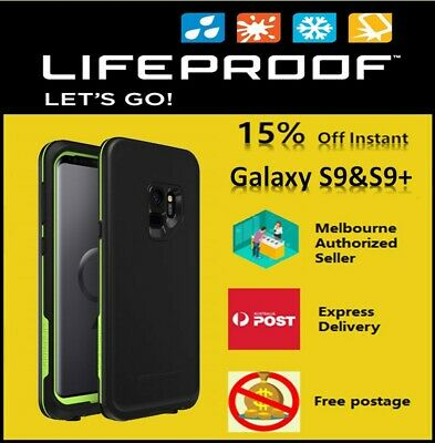 AU109.95 • Buy LifeProof FRE Case For Samsung Galaxy S9 And S9+, Black&lime And Grey&green.