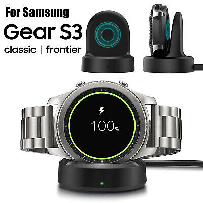 AU15.44 • Buy QI Wireless Charging Dock Cradle Smart Watch Charger For SAMSUNG Gear S2 S3 S4