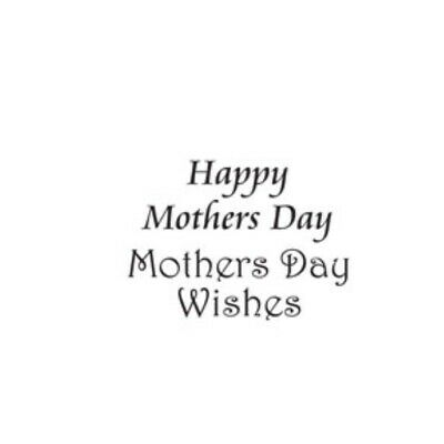 Woodware Happy Mothers Day Wishes 2 Piece Clear Magic Stamp Set Card Making • 3.25£