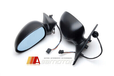 $329.99 • Buy Look M5 Type Auto Folding Electric Heating Mirrors Memory Fits BMW E46 LCI Coupe