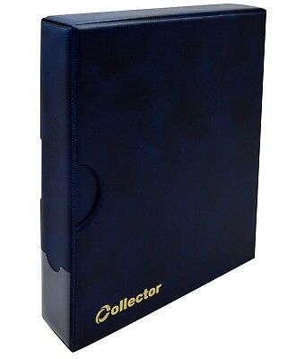 £22.99 • Buy Banknote Album In Case Folder Book 15 Banknotes Pages Sleeves Collector BLUE