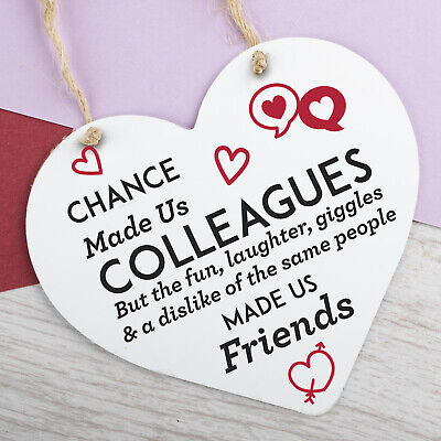 £3.99 • Buy Chance Made Us Colleagues Heart Plaque Hanging Sign Friendship Friends Gift