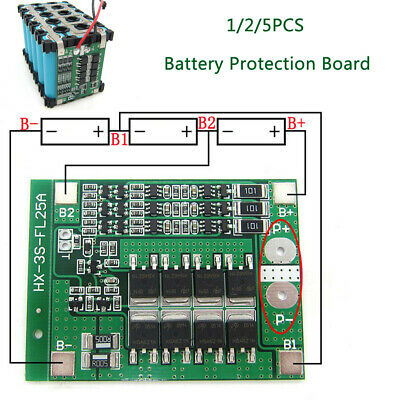 1/2/5PCS 25A 25V PCB BMS Protection Board For 18650 Li-ion Lithium LiPo Battery • 11.11£
