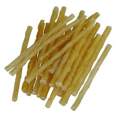 Maltbys' Stores 1904 Limited 40 4-6mm Rawhide Twists Natural Dog Chews Treats • 3.99£