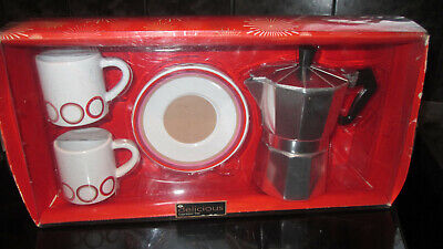 Delicious Boots Expresso Set Coffee Can Cups Saucers Bnib New • 14.99£