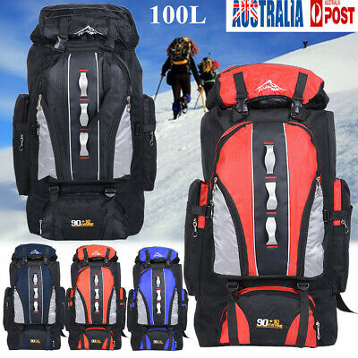 AU34.79 • Buy AU 100L Outdoor Hiking Camping Backpack Travel Mountaineering Day Pack Rucksack
