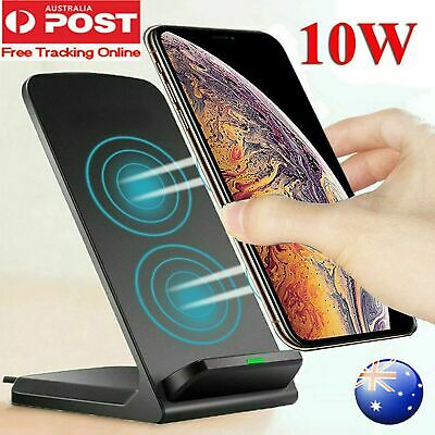 AU19.99 • Buy QI Portable Cordless Wireless Charger Stand Dock For IPhone 11 Max XS Samsung S9