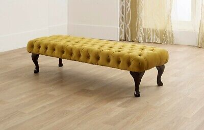 Plush Velvet Tufted Chesterfield Chaise Lounge Sofa Bedroom Accent Chair Bench • 159.99£