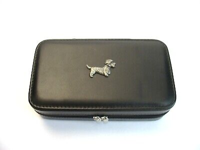£25.99 • Buy Dandie Dinmont Design Large Black Travel Jewellery Box For Him Or Her