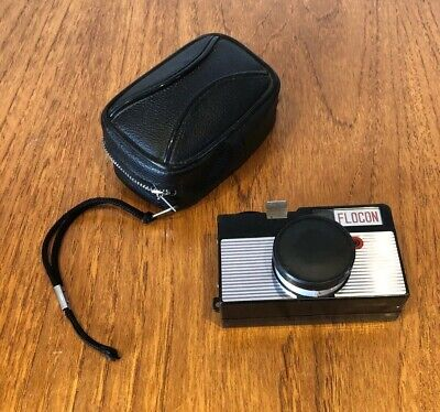 Vintage Old Small Flocon Camera In Case Used Untested  • 9.99£