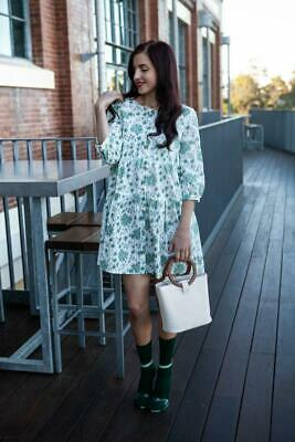 AU20 • Buy Cotton Floral 3/4 Sleeves Relax Fitting Smock Dress