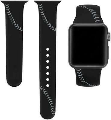 $ CDN15.44 • Buy Baseball Sport Band Compatible With Apple Watch 42mm 44mm Lg 6.3-8.1  Series 1-5