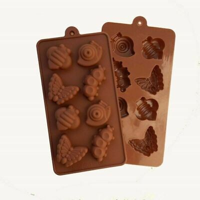 8 Butterfly Bee Snail Caterpillar Silicone Mould Chocolate Jelly Ice Cube Mold • 2.76£