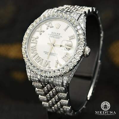 $ CDN13999.99 • Buy Rolex Datejust 36mm Jubilee Full Iced Out Roman Numerals