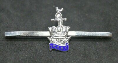 Vintage Women's Royal Naval Service WRNS Wrens Silver Sweetheart Bar Brooch • 20£