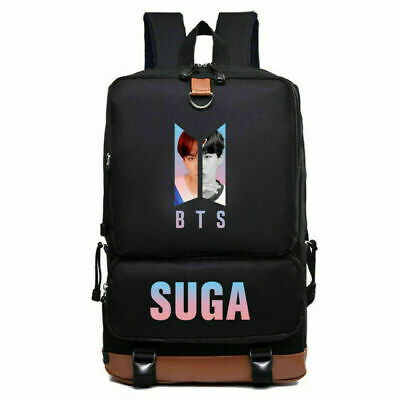 $24.99 • Buy BTS Bangtan Boys Nylon Backpack Student Schoolbag Shoulder Bag Travel SUGA