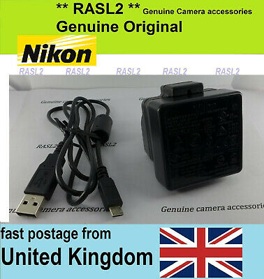 Genuine NIKON EH-73P Charger + USB Cable CoolPix B700 DL18-50 DL24-85 DL24-500 • 49.95£