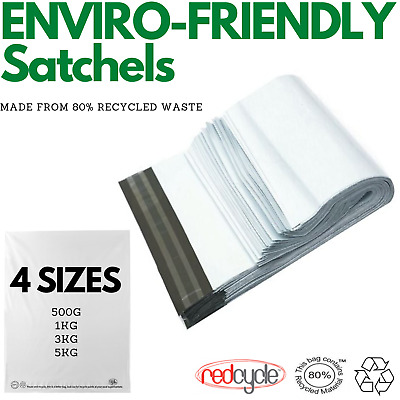 AU179 • Buy Enviro Recycled Courier Satchels Poly Mailer Bag Accredited Self Sealing Shippin