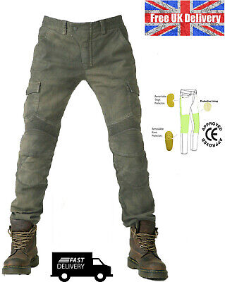 Mens Motorcycle Jeans Motorbike Pants Trousers & Gloves Free CE Armour  • 39.99£