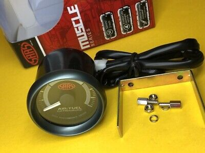 AU74.66 • Buy 52mm Air/Fuel Ratio Gauge AFR SAAS Muscle 2  Black SGAF52B