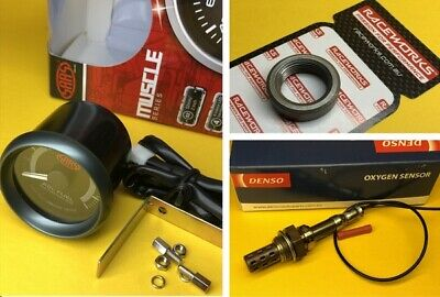 AU116.66 • Buy 52mm Air/Fuel Ratio Gauge + Bung And Sensor AFR SAAS Muscle 2  Black SGAF52B