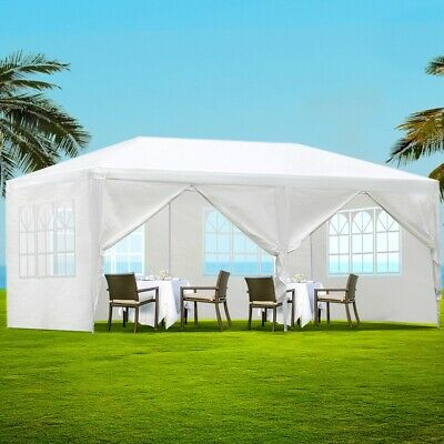 AU121.10 • Buy Instahut Gazebo 3x6m Outdoor Marquee Side Wall Party Wedding Tent Camping White
