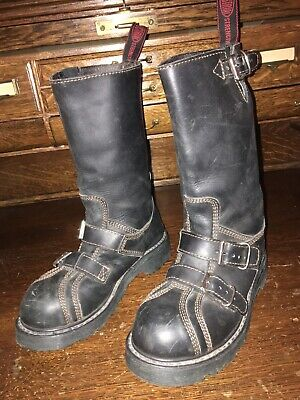 $25 • Buy Na Na Industrial Strenght Mens Steel Toe Boots Sz 4.4 Us Must See Description