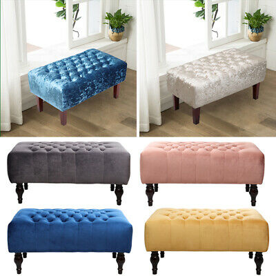 Large Chesterfield Footstool Ottoman Pouffe Stool Bench Coffee Table Window Seat • 79.95£