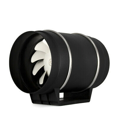 Hydroponics Cyclone Twin Speed Mixed Flow In-Line Extractor 4  5  6  8  UK Plug • 105.90£