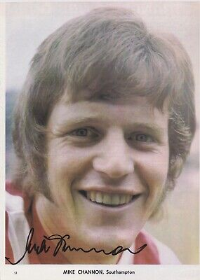 MICK CHANNON (Southampton Man City Norwich Portsmouth FC) Hand SIGNED Picture • 8£