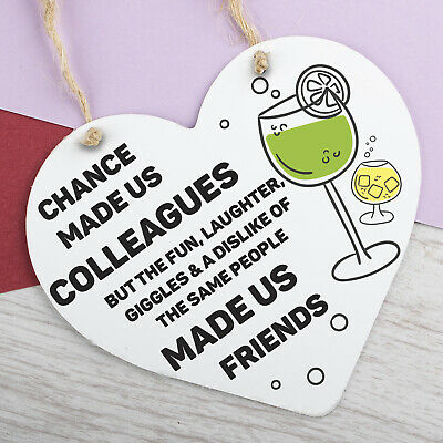 £3.99 • Buy Chance Made Us Colleagues Gifts Heart Plaque Hanging Sign Friendship Friends
