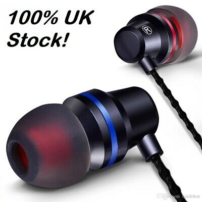 Quality Super Bass Tomkas Earphones Headphones In Ear Earbuds For SONY Xperia 10 • 6.50£