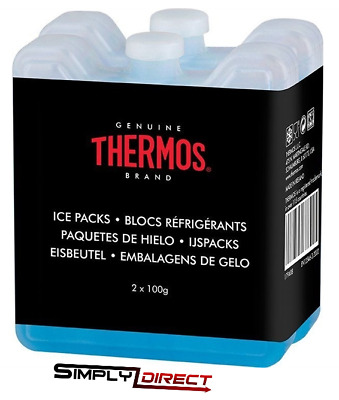 Thermos Pack Of 2 Mini Ice-Packs Blocks Ideal For Lunch Boxes 2 X100g • 5.30£