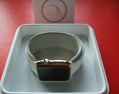$ CDN445.59 • Buy 24ct Gold Plated Apple Smart Watch Series 1 42mm White Sports Wrist Band Gift