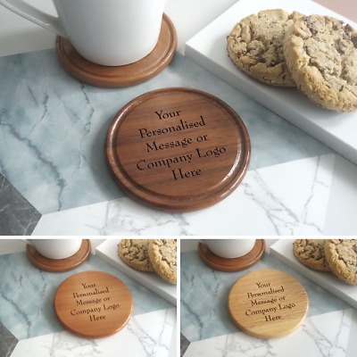 Design Your Own Custom Made Wooden Coaster Drink Mat Personalised - Solid Wood • 4.99£