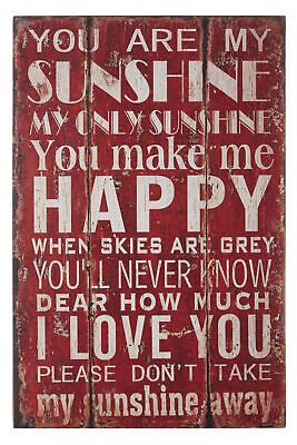 Premier Housewares You Are My Sunshine Wall Plaque • 14.99£