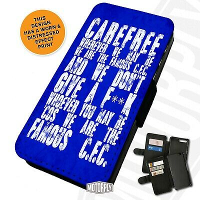 Printed Faux Leather Flip Phone Case For IPhone - Chelsea Carefree Chant • 9.75£