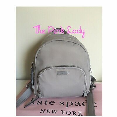 $ CDN114.82 • Buy NWT Kate Spade 💯%Authentic Soft Taupe Nylon Medium Backpack WKRU5913