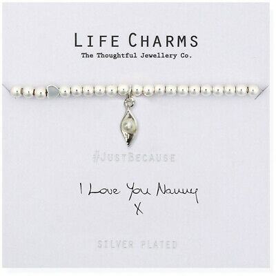 Life Charms I Love You Nanny Silver Plated Bracelet Free Gift Box • 12.99£