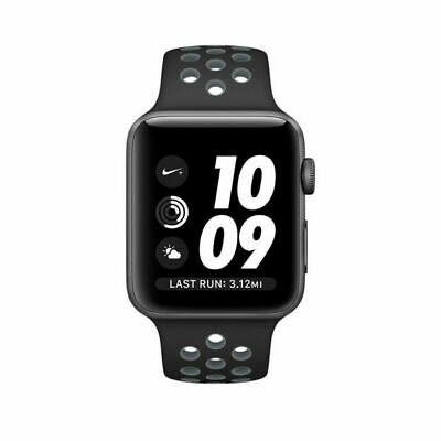 $ CDN263.23 • Buy Apple Watch Nike+ 42mm Ser 2 Aluminum Case Black/Navy Blue Sport Band(MNYY2LL/A)
