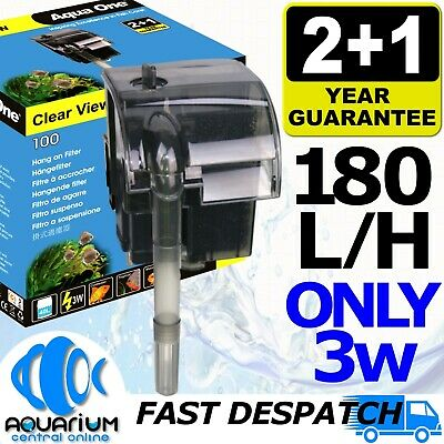 AU24.50 • Buy Aqua One Clearview 100 Hang On Filter 180 L/H 11526 Fish Tank Aquarium Cleaner