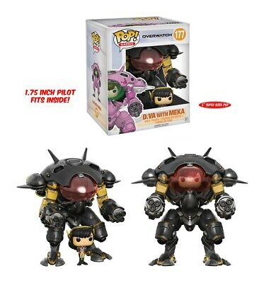 AU39.95 • Buy Overwatch D.Va & MEKA (Carbon Fibre) Exclusive 6  Pop! Vinyl Figure #177